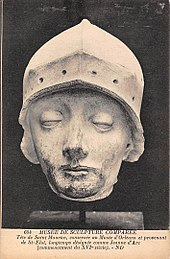 statue head of joan d'arc